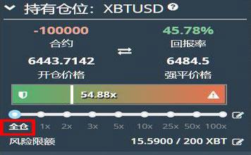 Bitmex全倉